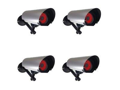 Dummy Security Cameras 4 x Large CCTV Cameras  - All Weather External Cameras