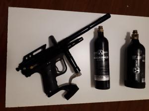 Full auto paintball gun / paintball marker plus gear
