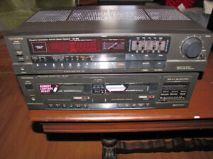Technics Stereo Receiver and Dual Tape Deck