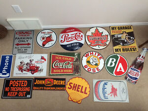 15 TOTAL Reproduction MAN CAVE SIGNS (All Together)