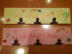 Kid's Look What I Made Clipboard Sign - Pink
