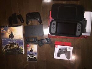 Nintendo switch and extras
