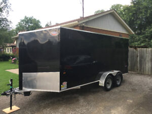 16 ft x 7 ft inclosed trailer