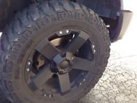 """35 """" dick Cepek tires and rims"""