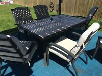 Tile table & 6 chairs