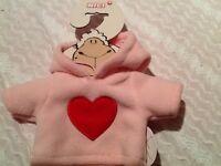 NICI dress your friend heart hoody NEW