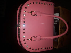 Large peachy pink purse.  New