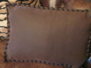 BRAND NEW CUSTOM TEXTURED LEATHER, FUR & SUEDE PILLOWS