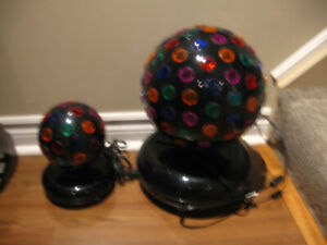 DISCO BALL LIGHTS, WORK GREAT, LARGE & SMALL ONE.