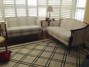 Two beautiful classic loveseats in perfect condition