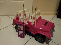 Barbie Remote Control Jeep