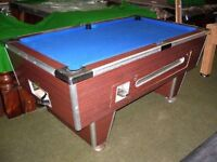 Slate bed pool table 6ft x 3ft,