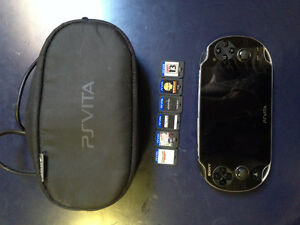 Playstation Vita with 9 games and case