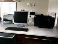 Ordinateur HP, clavier et souris, 2 Imprimantes HP