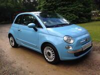 2013 13 FIAT 500 LOUNGE TWINAIR 875 STOP/START BLUE 1 LADY OWNER