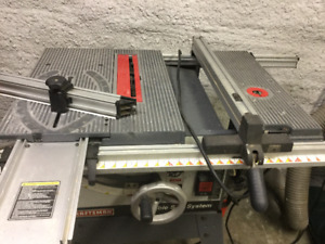 """CRAFTMAN 10"""" TABLE SAW - BUILT IN ROUTER TABLE AND ROLLING STAND"""