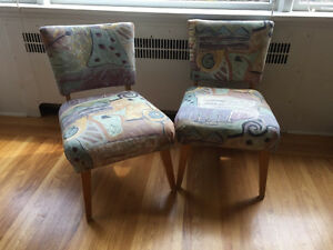 Two re-finished parlour chairs