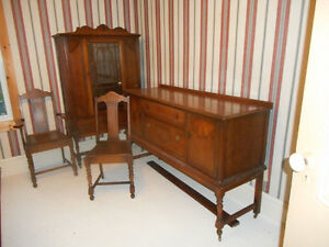 Antigonish: Walnut dining room set