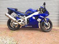 2001 Yamaha YZF-R1 4XV 998cc Original Blue Long Mot HPI Clear, PX Considered