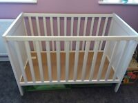 IKEA Sundvik white cot (mattress available too)