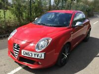 Alfa Romeo Mito 1.4 TB MultiAir 135 bhp Sportiva Good / Bad Credit Car Finance (red) 2014