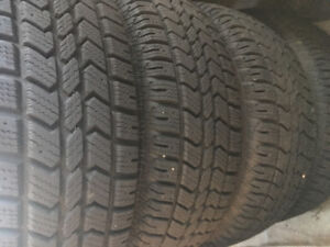 Set of 4 Artic Claw 215/70R16 on steel rims for sale