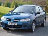 NISSAN ALMERA 1.5 S,3 OWNERS,LONG MOT,LOW TAX,EXCELLENT CONDITION