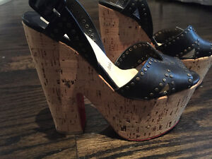 Christian Louboutin wedges! Size 36!