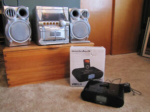 JVC Compact Component System & Clock Radio with iPod Dock