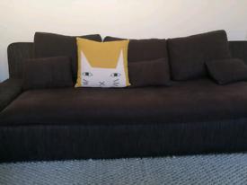 Designer Habitat Kasha Retro Style Brown Corduroy 3 three Seat Sofa
