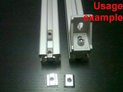 Aluminum T-slot Profile Slide-in T-nuts 6t-20 M5mm 24-set