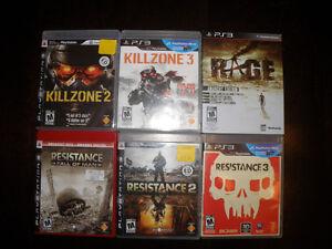 Lot de 6 jeux PS3