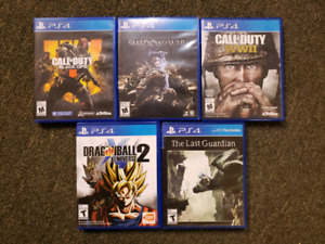 CALL OF DUTY BLACK OPS 4 , MIDDLE EARTH SHADOW OF WAR & more PS4