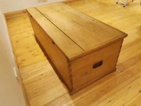 Huge rare antique blanket box