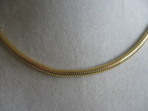 UNIQUE OVAL-SHAPED 16-IN.CHOKER-STYLE HI-SHINE GOLDTONE NECKLACE