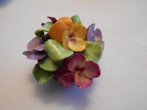 Miniature Coalport Flower Arrangement
