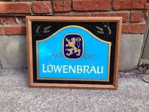 Lowenbrau Miller light up beer framed sign  London Ontario image 1