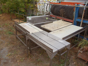 stainless steel meat tables