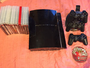 Play Station 3 - 13 games - 3 Controllers - Standing Charger