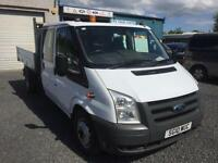 Ford Transit 115 d/cab t350 1 stop tipper only 47,000 miles 2010