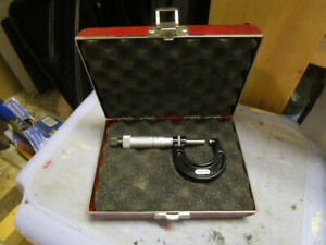 Starrett micrometer with case