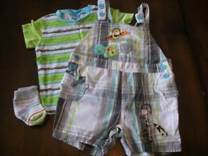 Vêtements d'été bébé garçon 6 mois 15$ pour toutes les photos