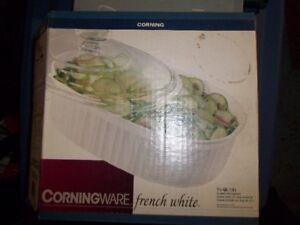 BOL PLAT CORNING FRENCH WHITE CORNINGWARE COCOTTE VAISSELLE