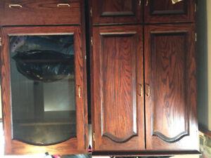 Solid hardwood cabinets