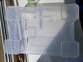 Ikea storage box with lid x2