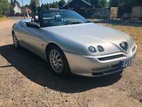 2001 51 ALFA SPIDER ROMEO 3.0 CABRIOLET 2 KEYS INC RED KEY FSH RAREST! PX SWAP