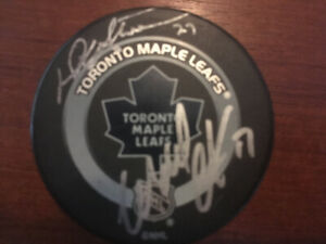Signed puck