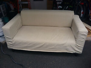 old idea couch with slip cover