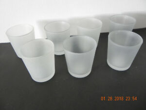 Frosted candle glasses