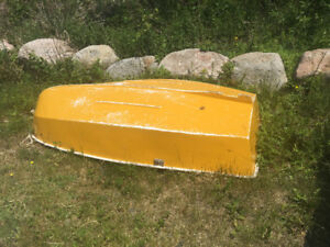 8 FT. FIBERGLASS DINGHY,  GREAT FOR ROWING TO YOUR BOAT